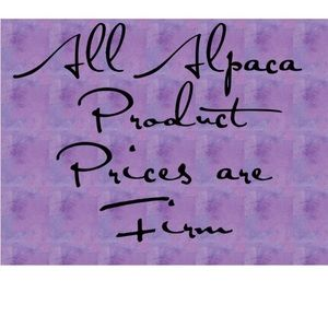 Prices are firm on alpaca products